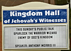 Kingdom Hall announces talk on Sparlock