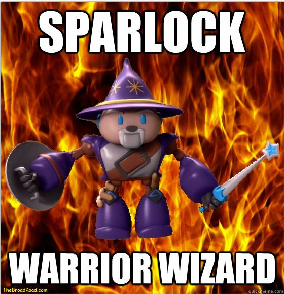 Sparlock the Warrior Wizard