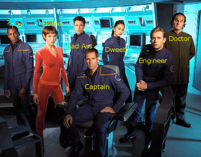 Star Trek Enterprise crew