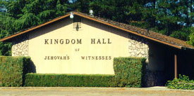 I've never seen a yellow Kingdom Hall in real life before. It just goes to show you that all Kingdom Halls are not alike.