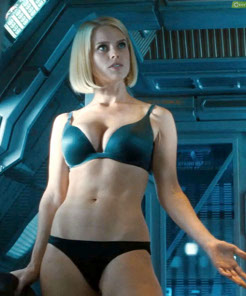 Alice Eve in her underwear