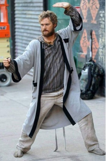 Danny in a robe