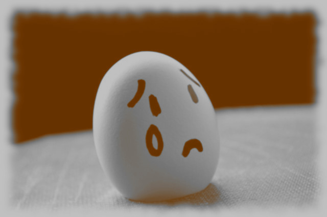 Isaac is a very sad egg today.